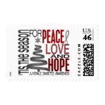 Peace Love Hope Christmas Juvenile Diabetes Postage Stamp
