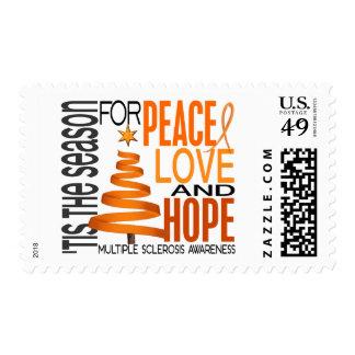 Peace Love Hope Christmas Multiple Sclerosis Postage