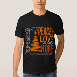 Peace Love Hope Christmas Multiple Sclerosis Shirt