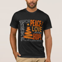 Peace Love Hope Christmas Multiple Sclerosis T-Shirt