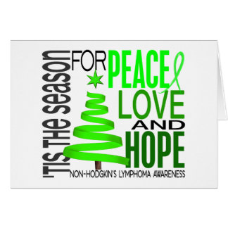 Peace Love Hope Christmas Non-Hodgkin s Lymphoma Card