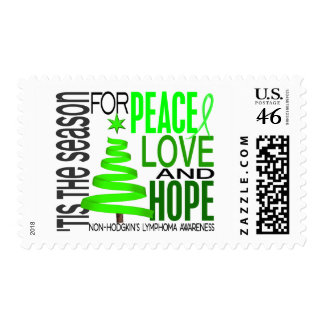 Peace Love Hope Christmas Non-Hodgkin s Lymphoma Stamp