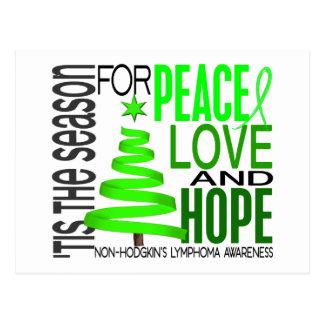 Peace Love Hope Christmas Non-Hodgkin s Lymphoma Post Card