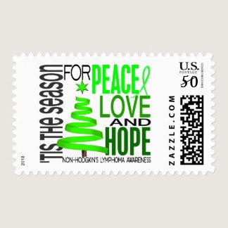 Peace Love Hope Christmas Non-Hodgkin's Lymphoma Postage