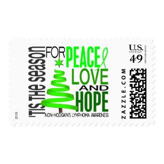 Peace Love Hope Christmas Non-Hodgkin's Lymphoma Stamp