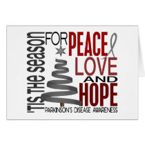 Peace Love Hope Christmas Parkinson's Disease Card