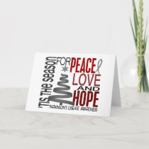 Peace Love Hope Christmas Parkinson's Disease Holiday Card
