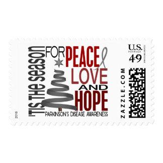 Peace Love Hope Christmas Parkinson's Disease Postage