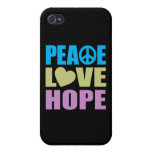 Peace Love Hope Covers For iPhone 4