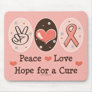 Peace Love Hope Cure Mousepad