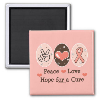 Peace Love Hope For A Cure Magnet