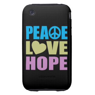 Peace Love Hope iPhone 3 Tough Case