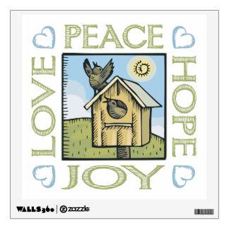 Peace, Love, Hope, Joy Wall Sticker