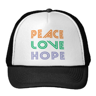 PEACE  LOVE HOPE MESH HAT