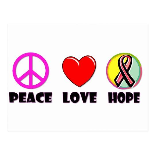 Peace Love Hope Postcard