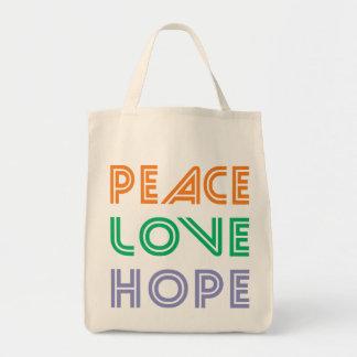 PEACE  LOVE HOPE TOTE BAGS
