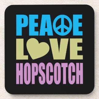 Peace Love Hopscotch Drink Coaster