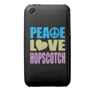 Peace Love Hopscotch iPhone 3 Case-Mate Cases