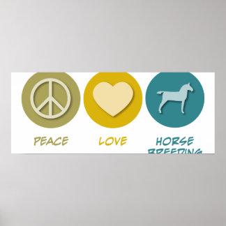 Peace Love Horse Breeding Print