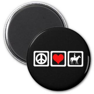 Peace love horse fridge magnet
