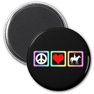 Peace love horse refrigerator magnets