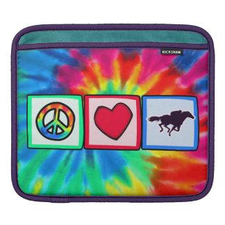 Peace, Love, Horse Racing iPad Sleeve