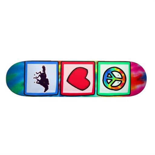 Peace, Love, Horse Racing Skate Board Deck