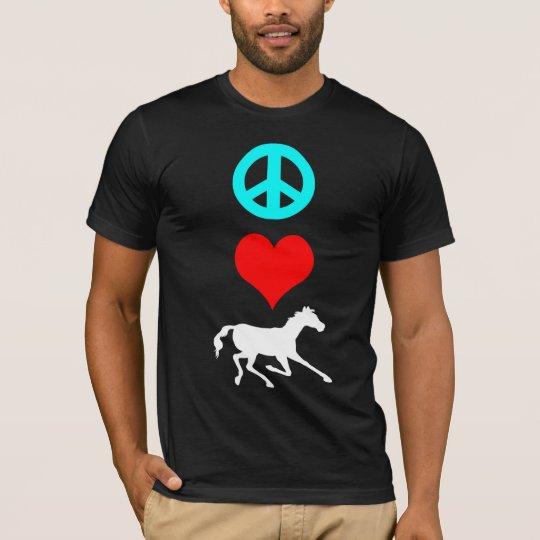 Peace love horse T-Shirt