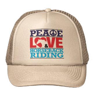 Peace Love Horseback Riding Hat