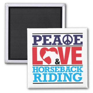 Peace Love Horseback Riding Magnet