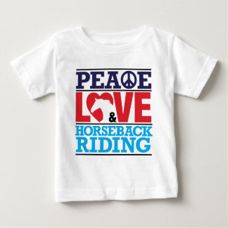 Peace Love Horseback Riding Shirt