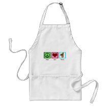Peace Love Horses Adult Apron