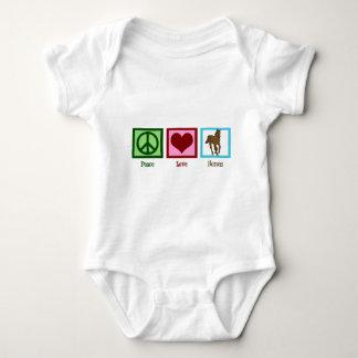 Peace Love Horses Baby Bodysuit