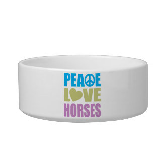 Peace Love Horses Bowl