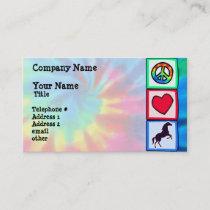 Peace, Love, Horses Business Card