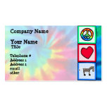 Peace, Love, Horses Double-Sided Standard Business Cards (Pack Of 100)