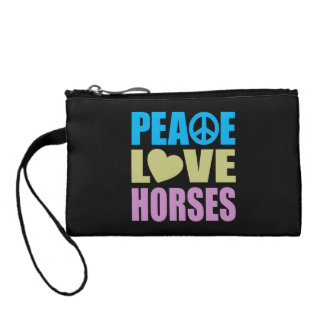 Peace Love Horses Coin Wallet
