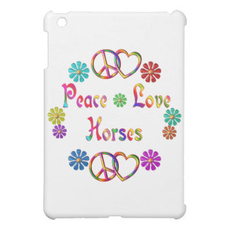 PEACE LOVE HORSES COVER FOR THE iPad MINI