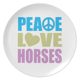 Peace Love Horses Dinner Plate