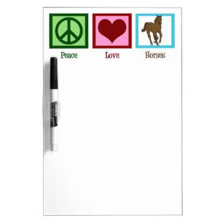 Peace Love Horses Dry-Erase Board