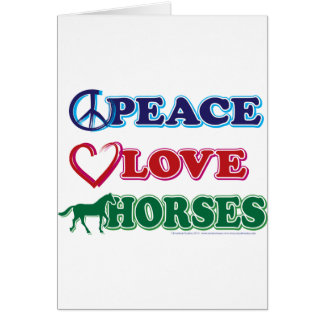 Peace-Love-Horses Greeting Card