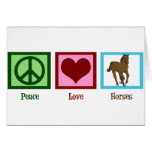 Peace Love Horses Greeting Card