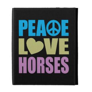 Peace Love Horses iPad Case