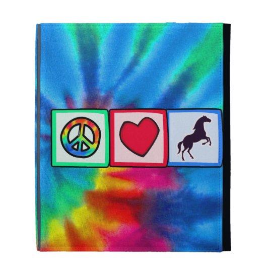 Peace, Love, Horses iPad Folio Case