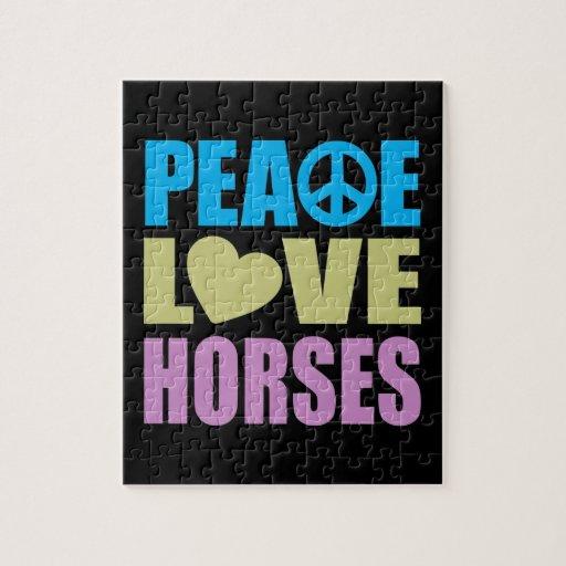 Peace Love Horses Jigsaw Puzzle