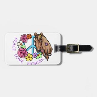 Peace Love Horses Luggage Tag