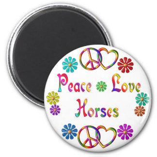 PEACE LOVE HORSES REFRIGERATOR MAGNETS