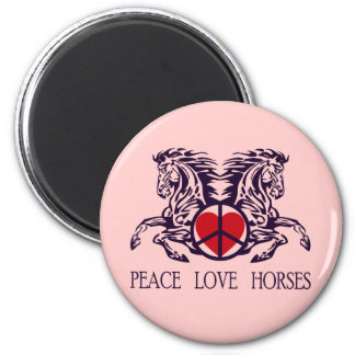 PEACE LOVE HORSES MAGNETS