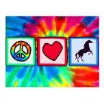 Peace, Love, Horses Postcard