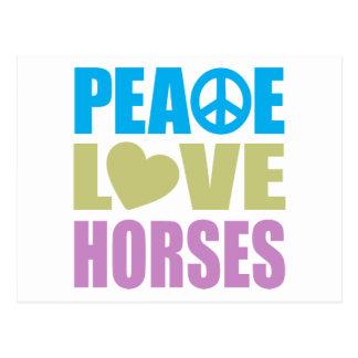 Peace Love Horses Postcard